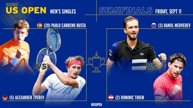 US Open Semifinals 2020: Predictions and best bets